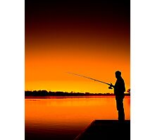 River Fishing Photographic Print