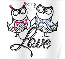 Owls love Poster