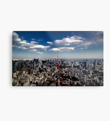 Tokyo skyline from the Mori Tower, Roppongi Metal Print