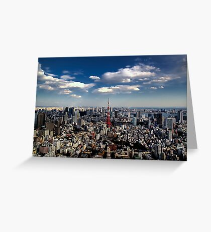 Tokyo skyline from the Mori Tower, Roppongi Greeting Card