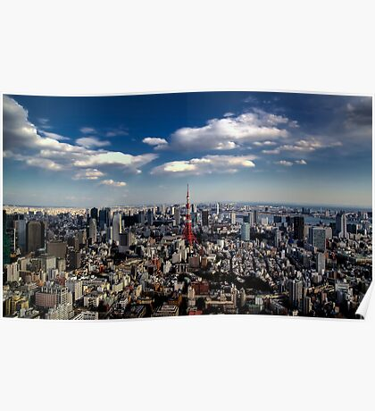Tokyo skyline from the Mori Tower, Roppongi Poster