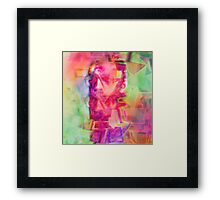 Trippy Psychedelic Abstract Guy Framed Print