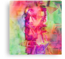 Trippy Psychedelic Abstract Guy Canvas Print