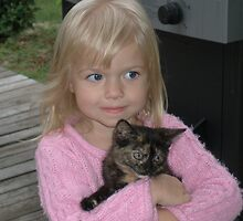 Abby and our New Kitty Cali by Heavenandus777