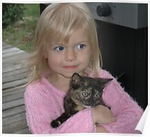 Abby and our New Kitty Cali Poster
