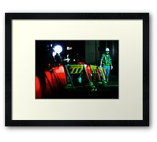 The man who waves the flashing stick; Ginza, Tokyo Framed Print