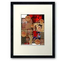 The pizza is aggressive. Framed Print