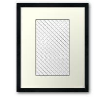 Tile Illusion - White Framed Print