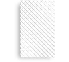 Tile Illusion - White Canvas Print