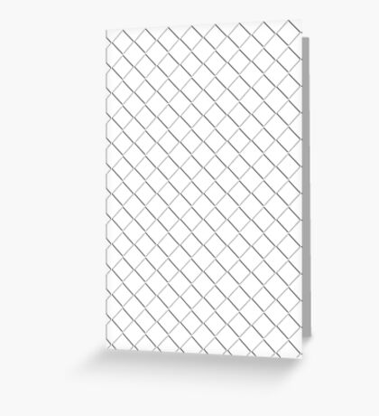 Tile Illusion - White Greeting Card