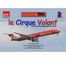 Branded Card off the rack for le Cirque Volant© Photographic Print