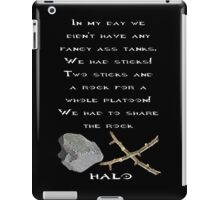 Halo - Two Sticks and a Rock iPad Case/Skin