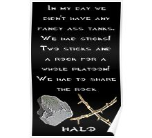 Halo - Two Sticks and a Rock Poster