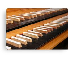 Pipe organ keyboard  Canvas Print