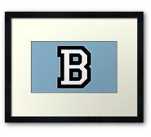 Letter B two-color White Framed Print