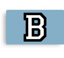 Letter B two-color White Canvas Print