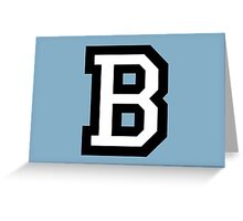 Letter B two-color White Greeting Card