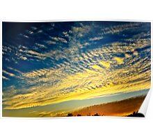 coucher de soleil sur Bordeaux Poster