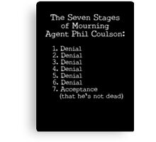 Mourning Agent Coulson Canvas Print