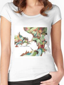 NUJABES METAPHORICAL MUSIC R.I.P Women's Fitted Scoop T-Shirt