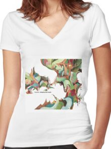 NUJABES METAPHORICAL MUSIC R.I.P Women's Fitted V-Neck T-Shirt