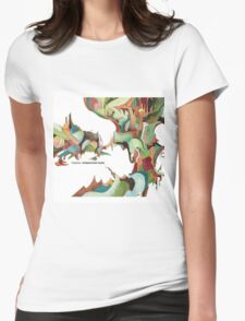 NUJABES METAPHORICAL MUSIC R.I.P Womens Fitted T-Shirt