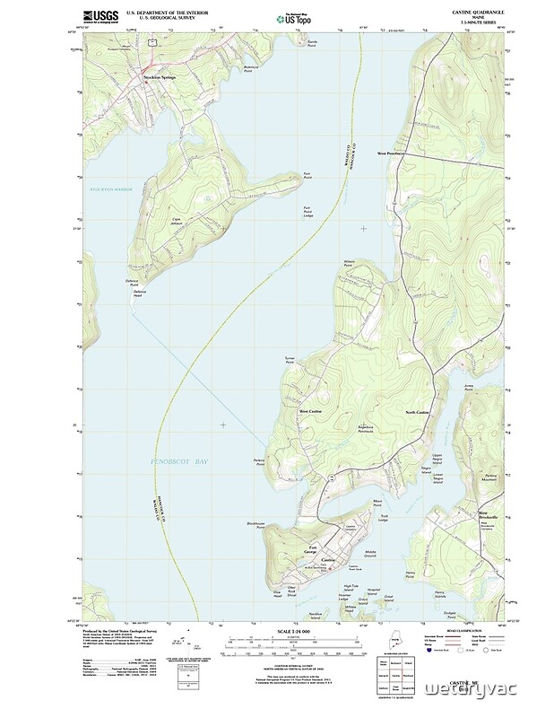 QuotMaine USGS Historical Map Castine 20110909 TMquot Posters By