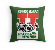 Isle Of Man TT Races 1976 Throw Pillow