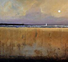 """Dusky Sail"" Beach Print Sailboat by ToniGrote"