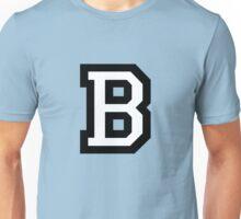 Letter B two-color White Unisex T-Shirt