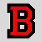 Letter B two color Red by theshirtshops