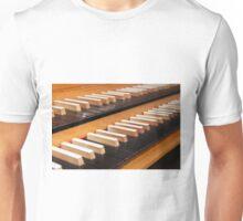 Pipe organ keyboard  Unisex T-Shirt
