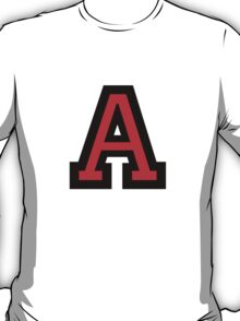 Letter A two color red T-Shirt