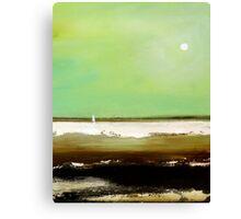"""""""Serene Sail"""" Ocean Beach Canvas Print"""