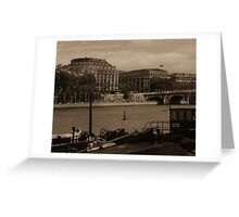 River Seine from the Quays Greeting Card