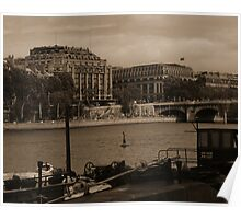 River Seine from the Quays Poster