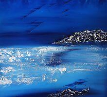 Winter scene in the alps by david hatton