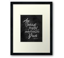 Age and Youth Framed Print