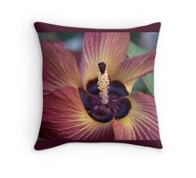 One Last Fling ('Hibiscus Tiliaceus' Bloom) Throw Pillow