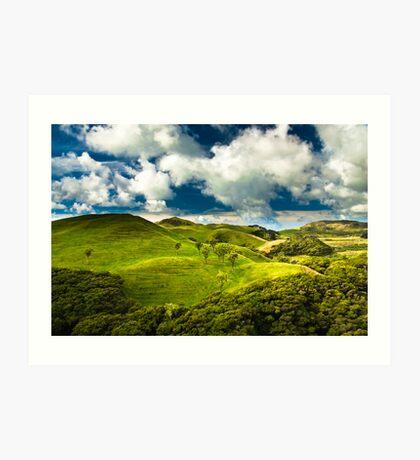 green hills  Art Print