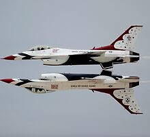 Thunderbirds - USAF US Air Force Display Team - Great Aviation Aerial Photo by verypeculiar