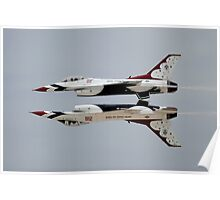 Thunderbirds - USAF US Air Force Display Team - Great Aviation Aerial Photo Poster