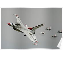 Thunderbirds - US Air Force Display Team - Great Aviation Aerial Photo Poster