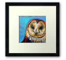 Insight: Barn Owl Framed Print