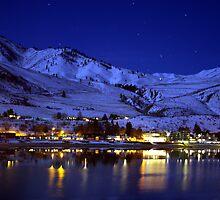 BEAUTIFUL LAKE CHELAN AT NIGHT  by MsLiz