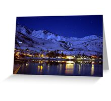 BEAUTIFUL LAKE CHELAN AT NIGHT  Greeting Card