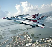 Thunderbirds - F-16 Fighting Falcaon - US Air Force Display Team - USAF - Great Aviation Photo by verypeculiar