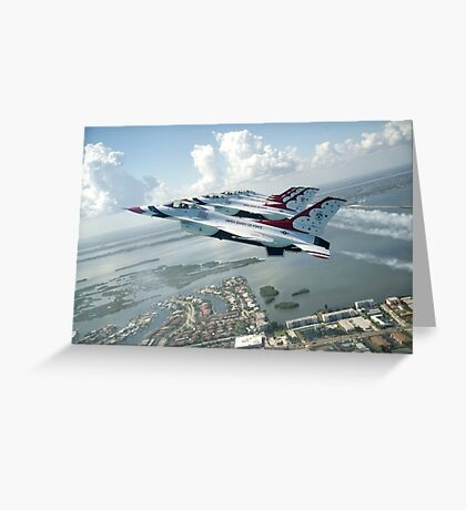 Thunderbirds - F-16 Fighting Falcaon - US Air Force Display Team - USAF - Great Aviation Photo Greeting Card