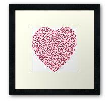 Heart Valentine Framed Print