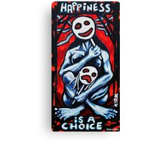 'HAPPINESS'  Canvas Print